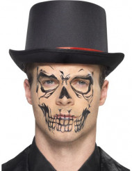 Skelett-Applikation Halloween-Tattoo schwarz