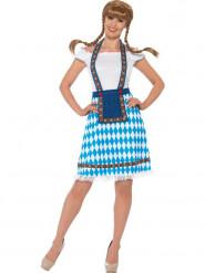 Bayerin Kostüm für Damen blau-weiß