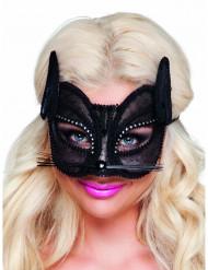 Edle Katzen-Maske mit Spitze für Damen