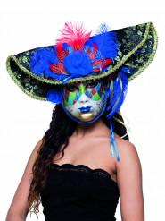 Venezianische Maske farbig Piraten für Erwachsene