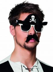 Piratenbrille mit Schnurrbart
