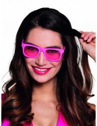 50er Jahre Party-Brille für Erwachsene neonpink