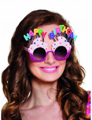 Happy Birthday Cupcake Brille für Erwachsene
