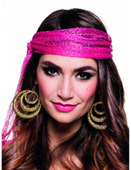 Zigeunerin Kreolen Ohrringe für Damen gold