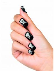 Künstliche Totenkopf-Nägel für Damen