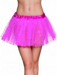 Tutu mit Glitzer-Sternchen für Damen neonpink