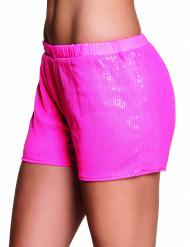 Pinke Pailletten Hotpants