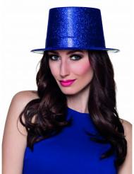 Party-Hut mit Glitzer für Damen blau