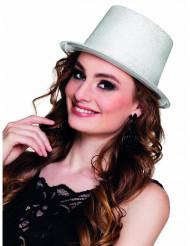 Party-Hut mit Glitzer für Damen weiß