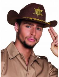 Sheriff Cowboy-Hut für Erwachsene braun
