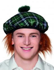 Barett-Mütze Schotte mit Haaren für Erwachsene