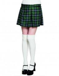 Karierter Kilt Schottenrock für Damen grün