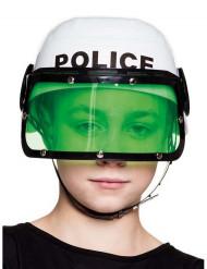 Weißer Polizeihelm für Kinder