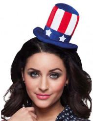 Amerika Minihut mit Haarreif für Erwachsene