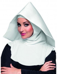 Nonnen-Haube für Erwachsene weiß
