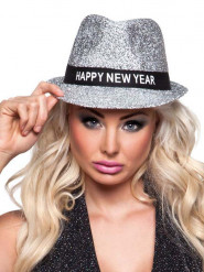 Borsalino-Hut Happy New Year für Damen silber