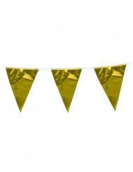 Wimpel-Girlande gold 10 m