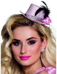 20er Jahre Minihut für Damen rosa
