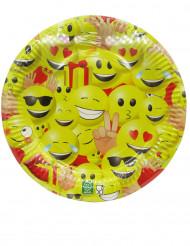 Pappteller Emoji-Smiley
