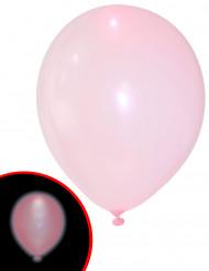 5 LED Luftballons Illooms ® rosa