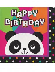 16 Panda Servietten Geburtstagsparty