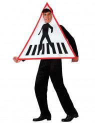 Zebrastreifen Verkehrsschild Kostüm für Erwachsene
