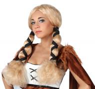 Blonde Wikinger-Perücke für Damen