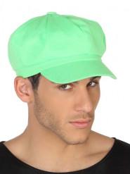 Neongrüne Schirmmütze