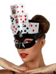 Spielkarten Poker Maske für Damen