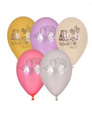 5 Minnie™ Ballons 23cm