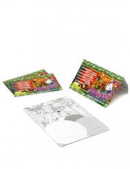 4 Einladungskarten Fotokarton Scooby-Doo™
