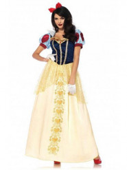Hübsche Märchenprinzessin Kostüm für Damen blau-rot-gelb