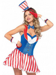 Sexy Amerikanerin Kostüm für Damen