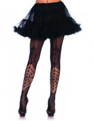Spinnennetz Strumpfhose Kostüm-Accessoire schwarz
