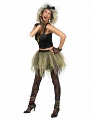 80er Disco Popstar Kostüm für Damen