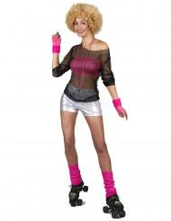 Disco-Shorts für Damen silber