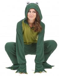 Lustiges Frosch Damen-Kostüm grün