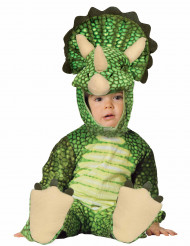 Triceratops Baby-Kostüm grün