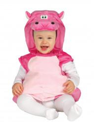 Pinkes Nilpferd Kostüm für Babys