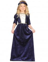 Dunkelblaues Mittelalter Kostüm Mädchen