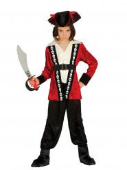 Kapitän Kostüm mit Totenkopf Jungen