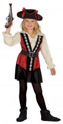 Piraten Totenkopf Kostüm für Mädchen!