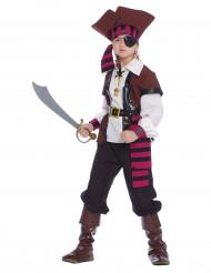 Rot-braunes Piratenkostüm für Kinder