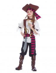 Piraten-Kinderkostüm für Mädchen bunt