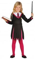 Kostüm eines Zauberlehrlings für Mädchen