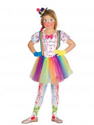 Clownskostüm für Kinder mit Farbspritzern