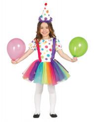 Clownskostüm mit Tüllrock für Kinder