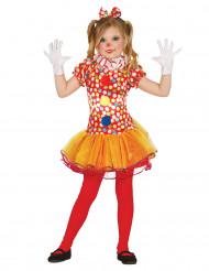 Gepunktetes Clownskostüm für Mädchen
