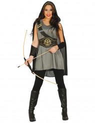 Mittelalterliche Bogenschützin Kostüm für Damen