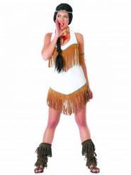 Indianerin Damenkostüm mit Fransen